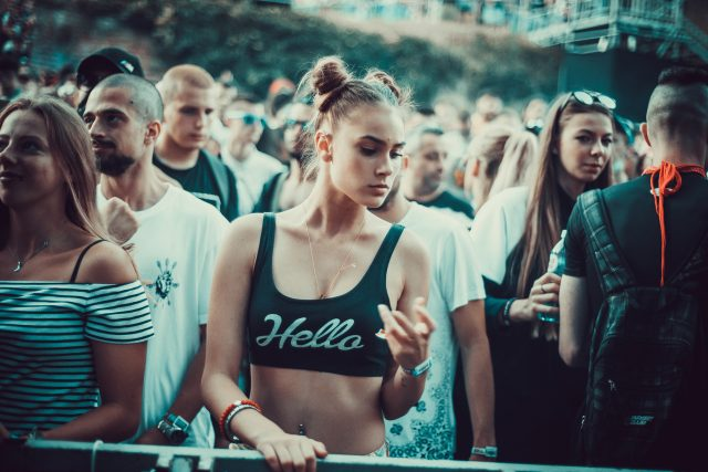 Beautiful Serbian woman at Exit Festival 2018