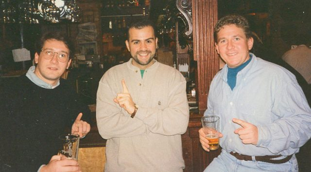 Where it all began: Don Fiala, Chris Festa, and Ty Sherman at Goose Island Clybourn, (14 Dec, 1996)