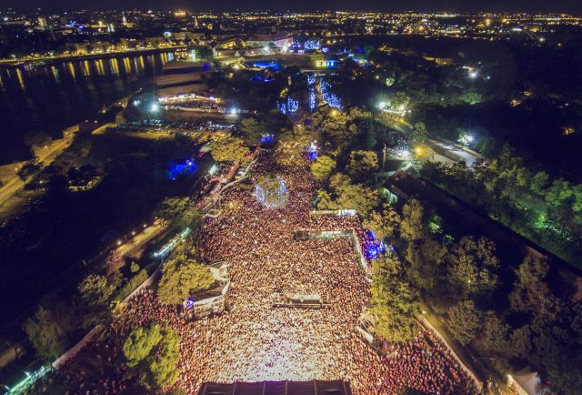Exit Festival from above the fortress