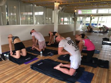 Bikram Yoga at Phuket Cleanse with Lee, Shane, Aya, and Little Miss Raw