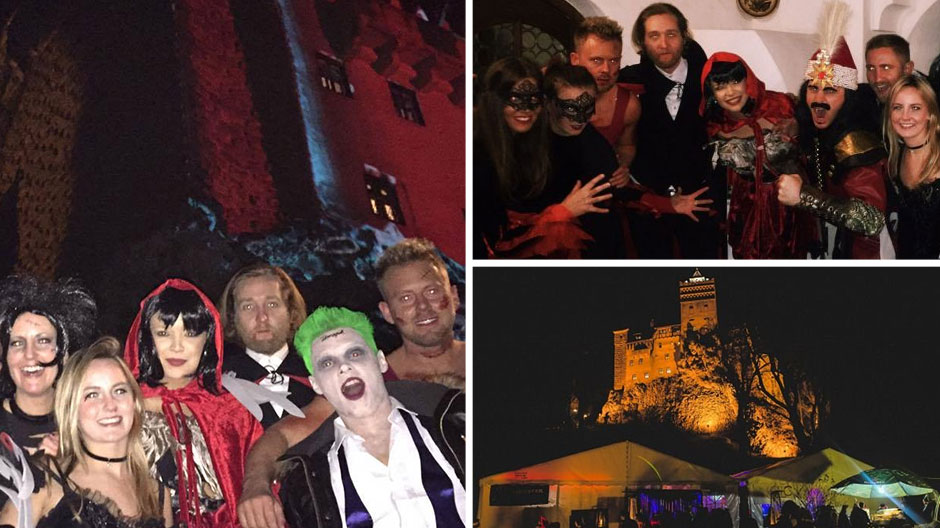 HALLOWEEN PARTY AT BRAN CASTLE IN TRANSYLVANIA