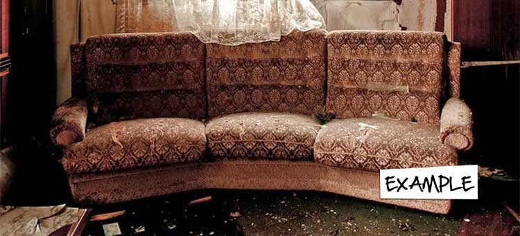 Old and tatty sofa chair in Egypt