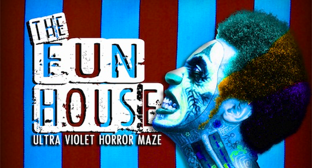Fun House maze at Hop Farm's Freak Week Halloween experience