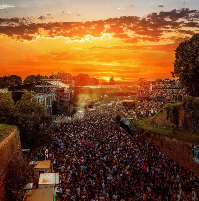 EXIT festival is hosted on a former minefield within the Petrovaradin Fortress.