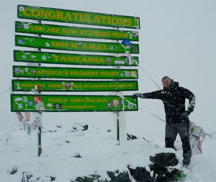 Top of Mount Kilimanjaro, Uhuru Peak