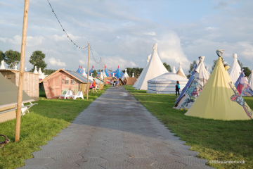 Teepees at Lowlands Festival (pic Little Wanderbook)