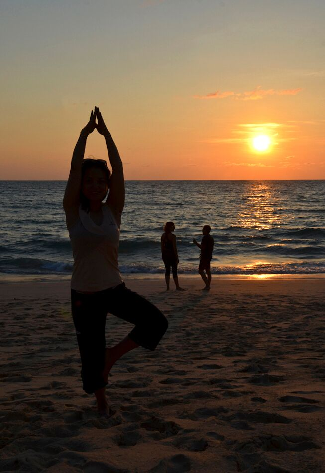 Phuket Cleanse sunset beach yoga
