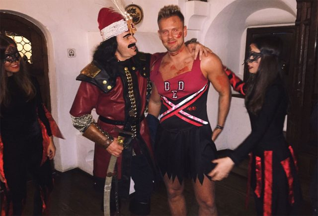 vlad the impaler was keen on lee walpole dressed as a zombie cheerleader